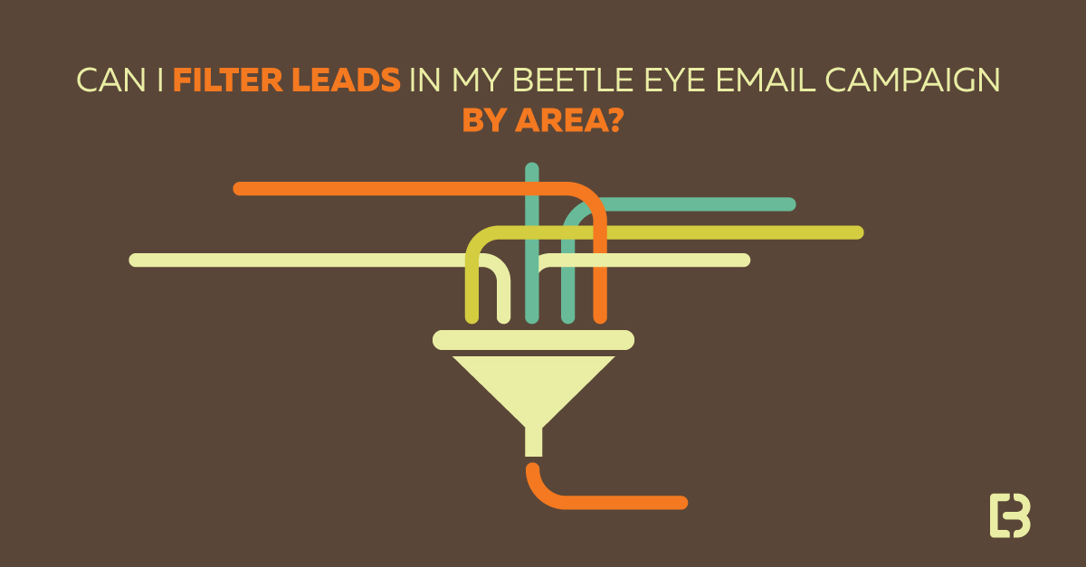 filter lead lists email campaign marketing platform beetle eye